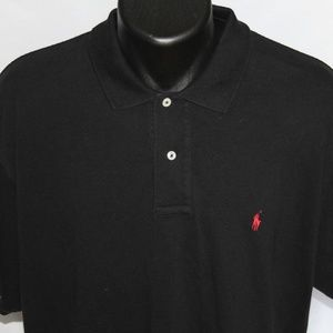 Ralph Lauren Polo Pique Cotton Polo  XL True Black